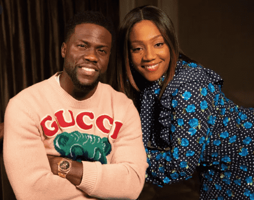 Kevin Hart and his Wife