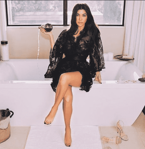 Kourtney Kardashian at Home
